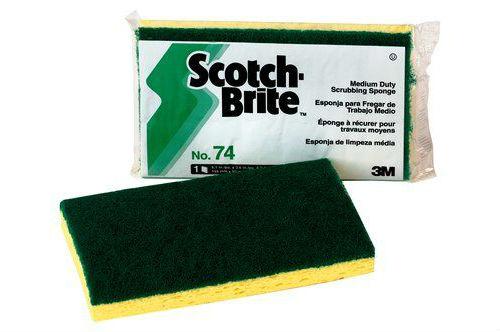 Scotch-Brite™ Medium Duty Scrub Sponge 74, 6.1 in x 3.6 in x 0.7 in, 20/case