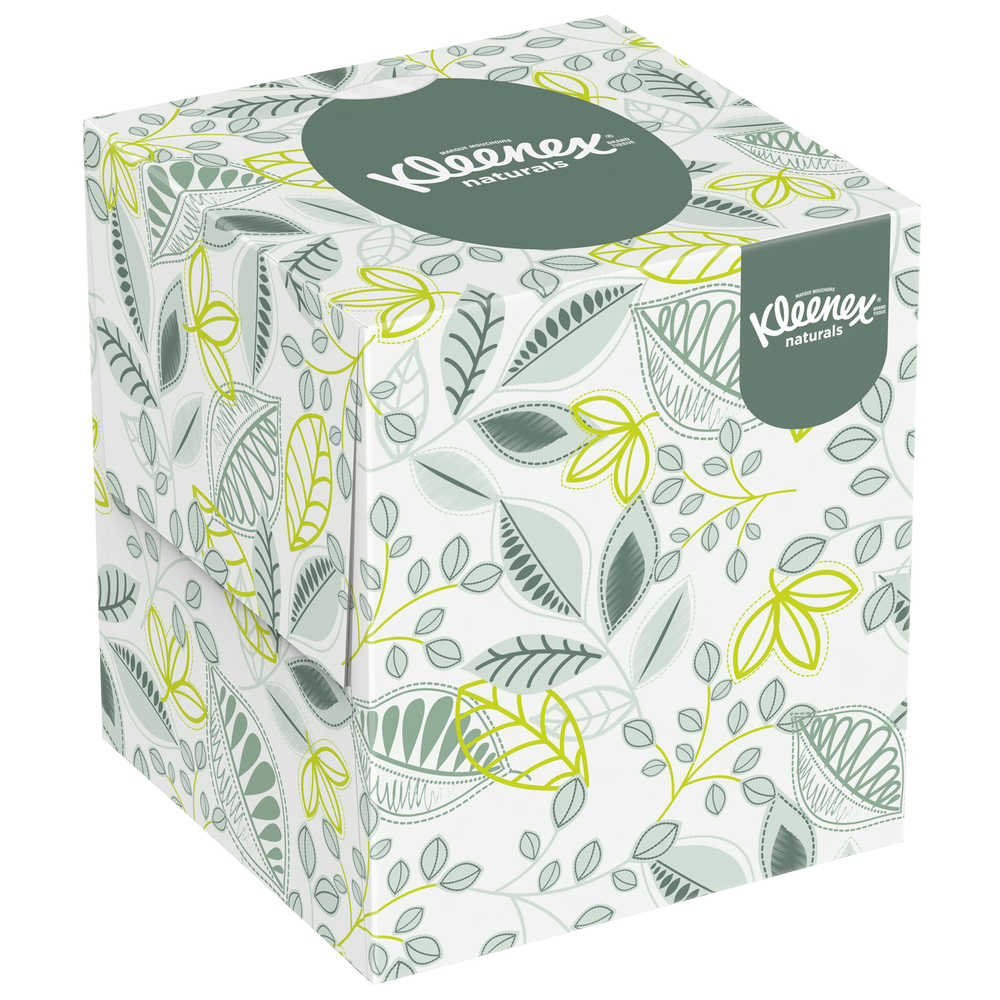 36/95 Kleenex Upright Naturals Facial Tissue