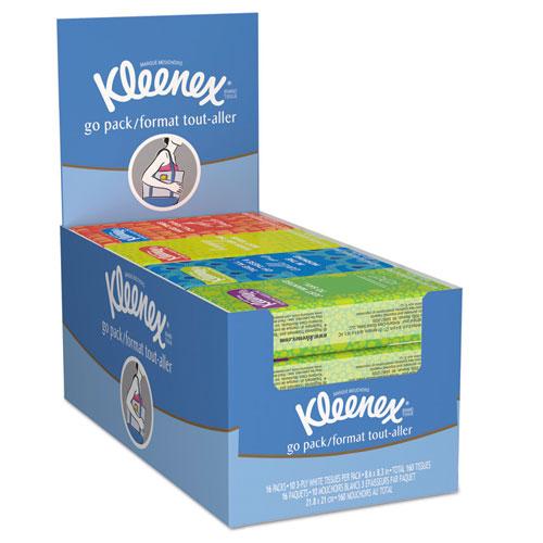 12/16 Kleenex Pocket Pack White Facial Tissue 10/pk