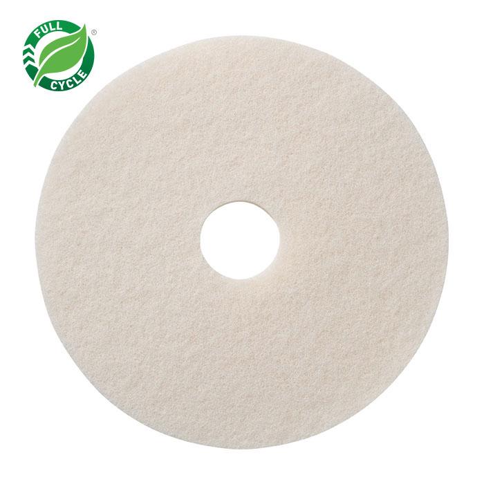 "10"" White Super Polish Floor Pads, 5/cs"