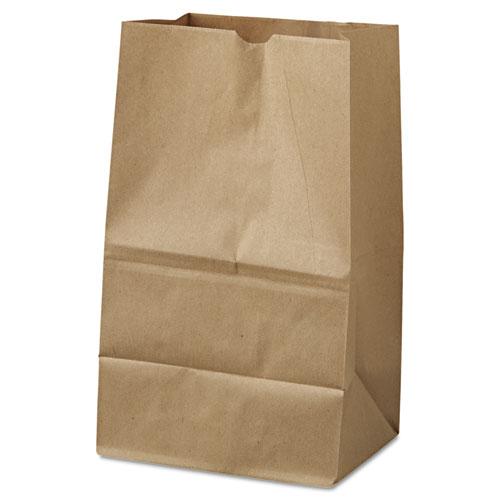 "#20 40lb Squat Kraft Grocery Paper Bags 8.25""x5.94""x13.38"", 500/BD"