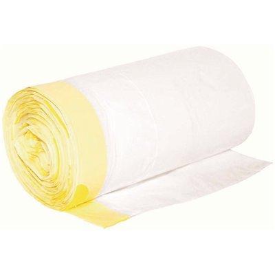 0.8 mil 24 in. x 28 in. White Low-Density Trash Bags