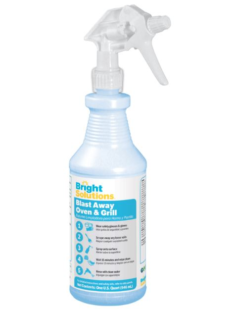 Bright Solutions Blast Away Oven & Grill Cleaner - Qt.. 12/cs