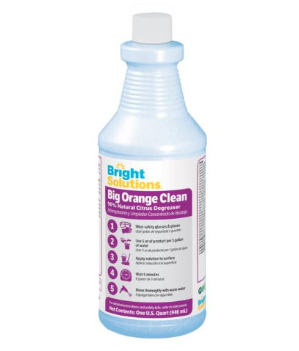 Bright Solutions™ Big Orange Clean Degreaser - Qt.. 6/cs