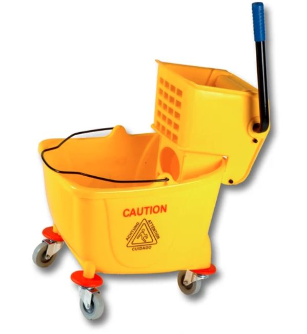 35qt Yellow Mop Bucket With Down Press