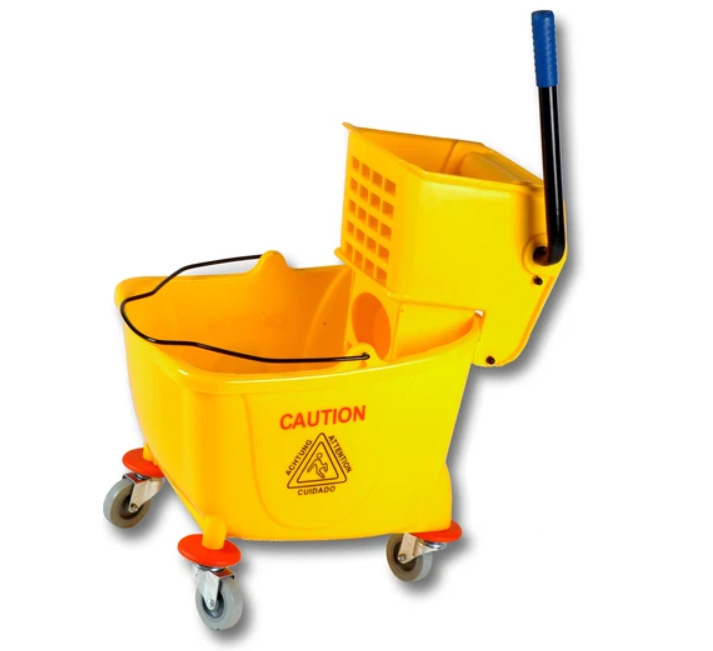 35qt Yellow Mop Bucket with Side Press