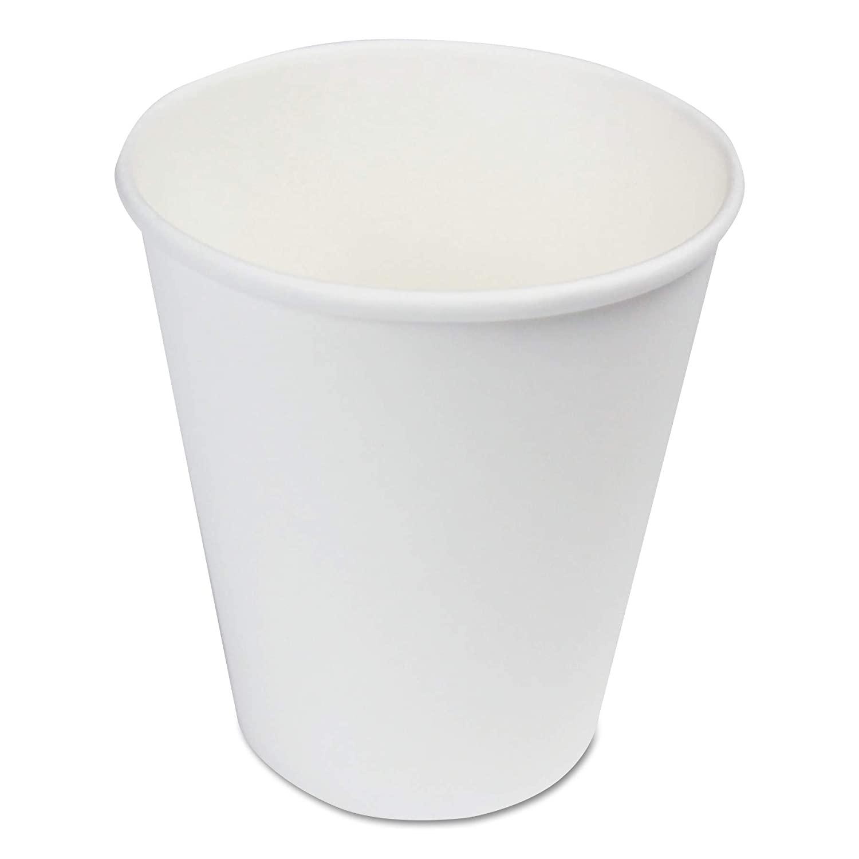 1000/CS 8oz White Paper Cups