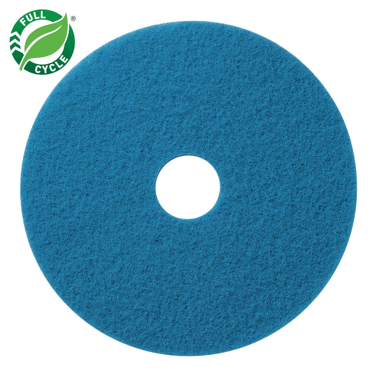 "10"" Blue Scrub Floor Pads, 5/cs"