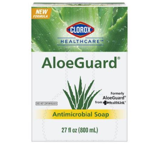 Antimicrobial Soap Clorox® Healthcare AloeGuard® Liquid 800 mL Dispenser Refill Bag Floral Scent