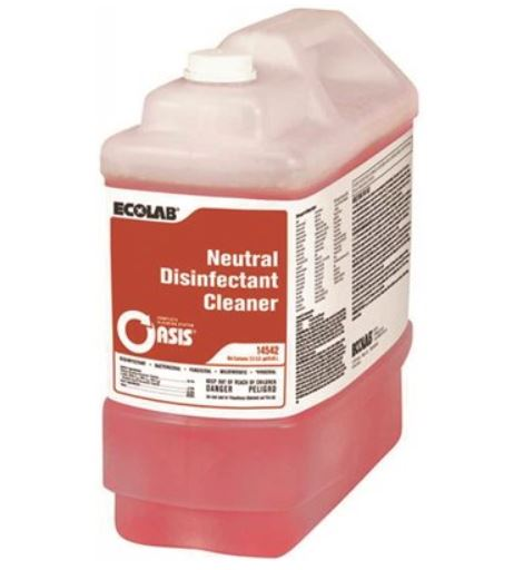 Ecolab 2-1/2 Gal. Neutral Disinfectant Cleaner