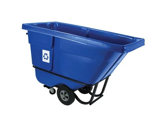1/2 Cubic Yard Blue Recycling Tilt Truck, Standard Duty
