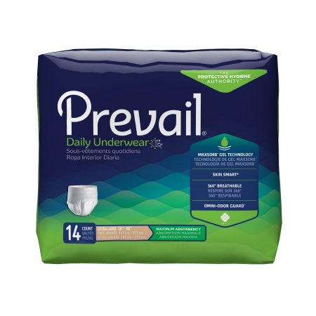 Unisex Adult Absorbent Underwear Prevail® Pull On
