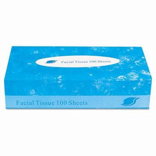Facial Tissue, 2-Ply, White