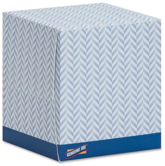 2-Ply White Facial Tissue Cube Box, 36/85 sheets