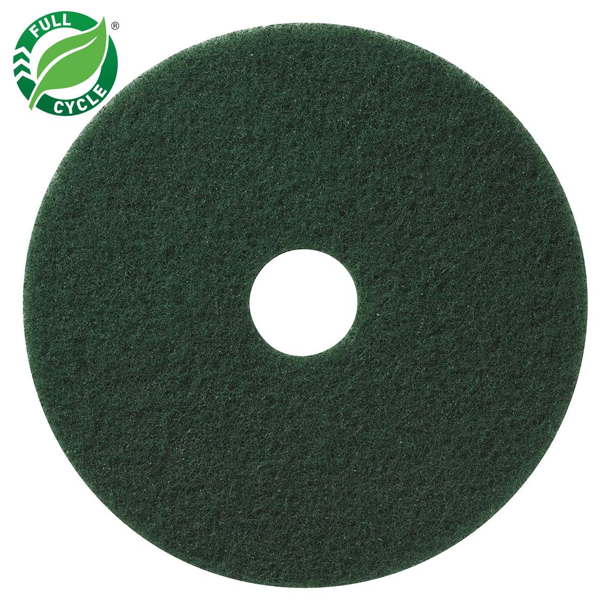 """10"""" Green Floor Scrubbing Pads, 5/cs"""