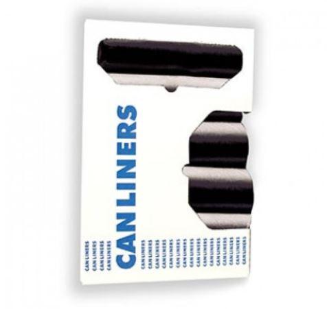 24x24 Black , 6mic High Density Liner, 50/roll, 20 rolls/cs, 7-10 Gallon