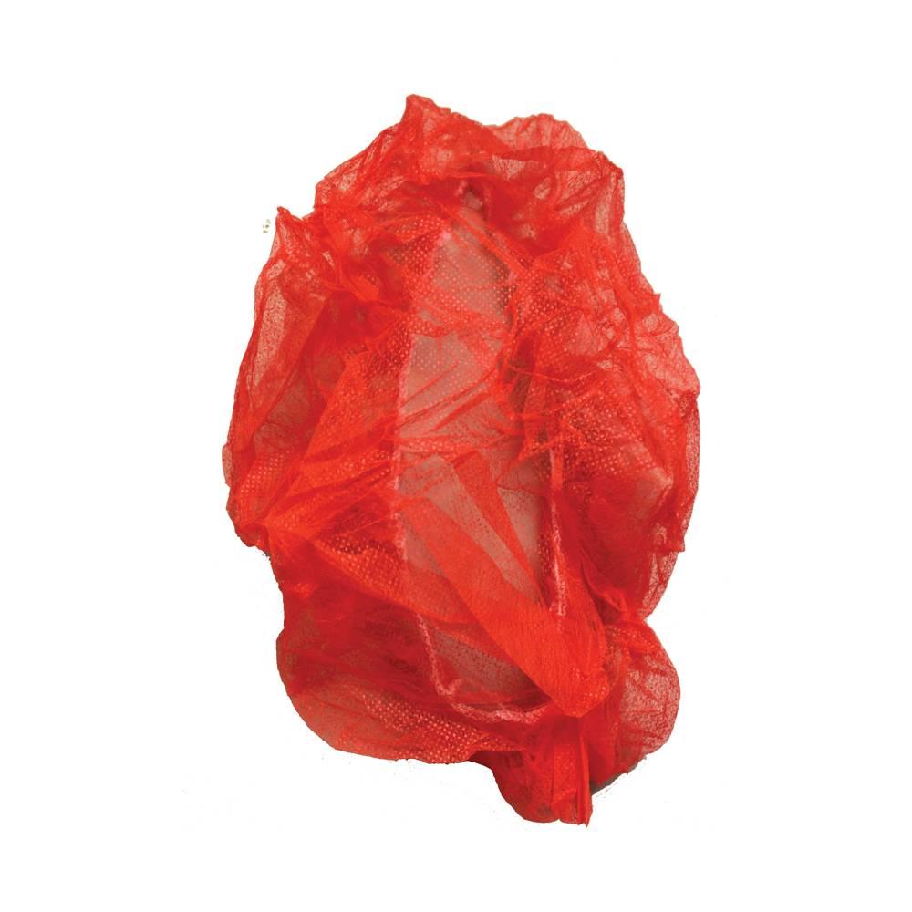 "10/100 Impact® 24"" Red Bouffant Cap"