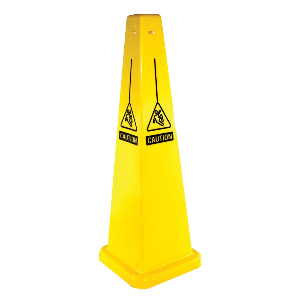 Four Sided Caution Only Yellow Floor Sign