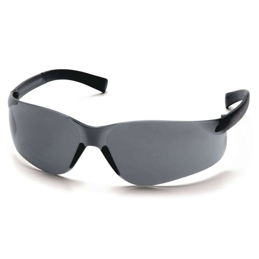 Pro-Guard® 821 FIT Series Safety Glasses w/ Rubber Temple Tips, Gray Lens/Black Frame