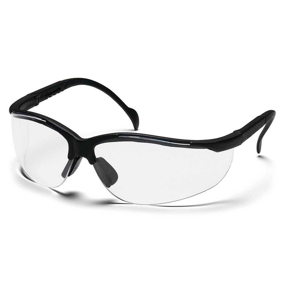 Pro-Guard® Clear Lens with Black Frame Safety Glasses, 830 Style Series