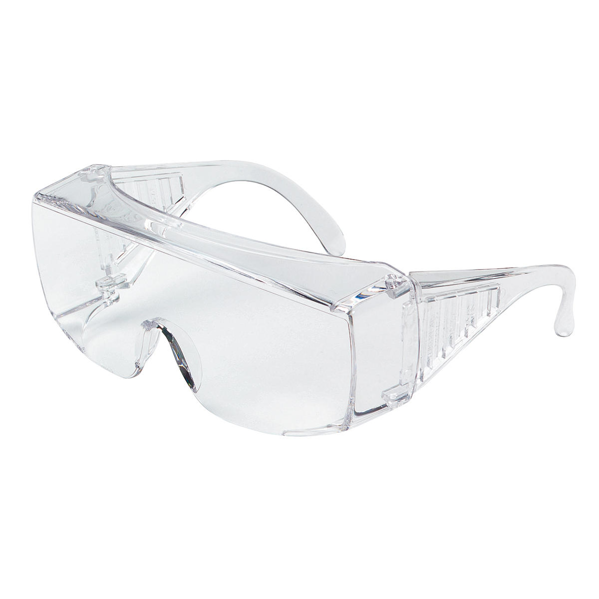 Safety Glasses with Clear Uncoated Lens Larger Design for Over the Glass Use