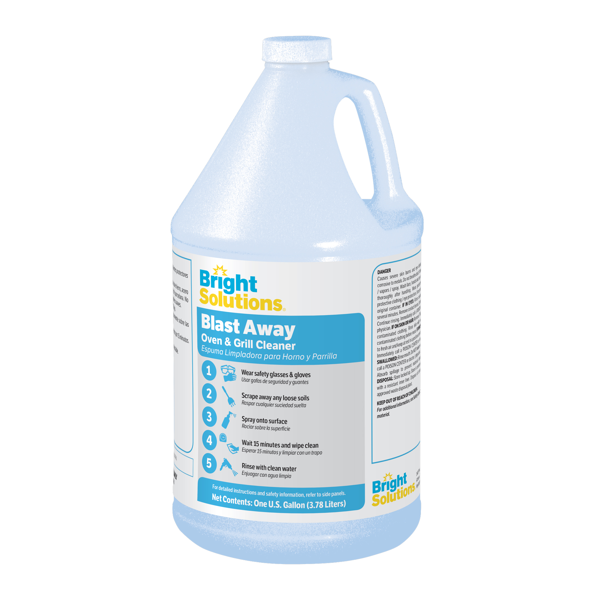 Bright Solutions® Blast Away Oven & Grill Cleaner - 4/1gl