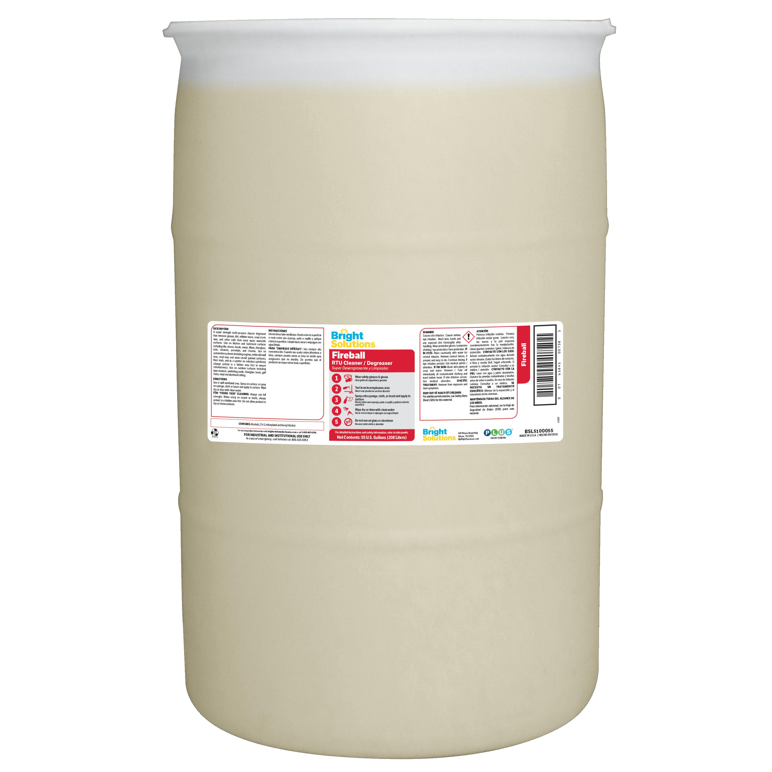 Bright Solutions® Fireball RTU Cleaner/Degreaser - 55gl