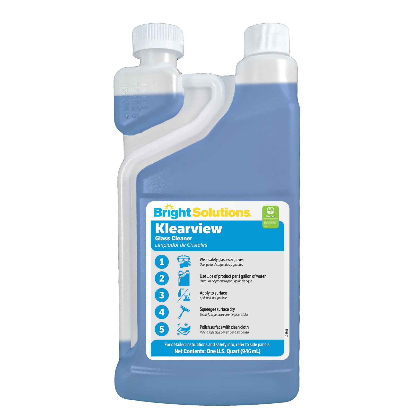 Bright Solutions® Klearview Glass Cleaner #1 - 6/1Q