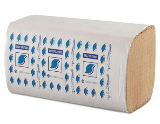 GEN Single Fold Paper Towels, Brown