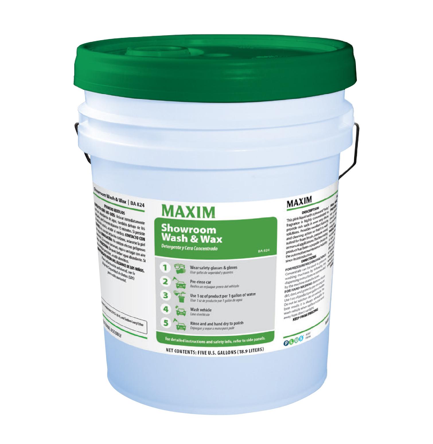 Maxim Showroom Wash & Wax - 5 Gal. ea