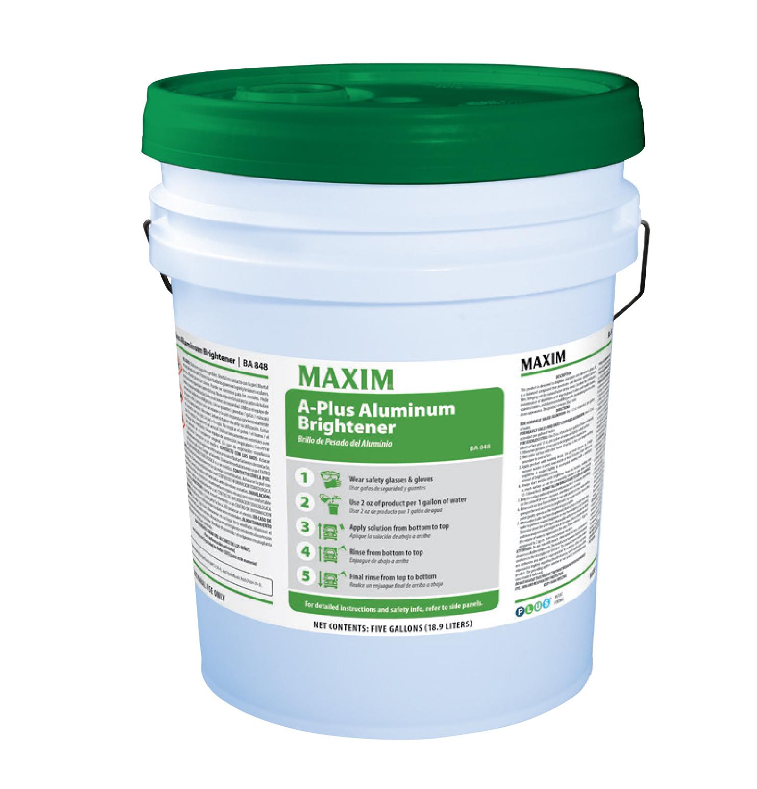 Maxim A-Plus Aluminum Brightener - 5 Gal. ea