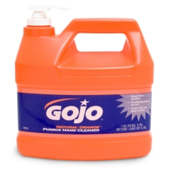 GOJO® NATURAL* ORANGE Pumice Hand Cleaner, 1 Gallon with Pump Bottle