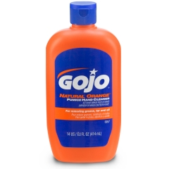 GOJO® NATURAL* ORANGE Pumice Hand Cleaner, 14 fl oz Squeeze Bottle