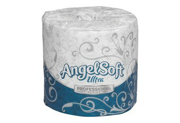 GP Angel Soft Ultra Professional Series ™ White 2-Ply Premium Embossed Bathroom Tissue, 60/400