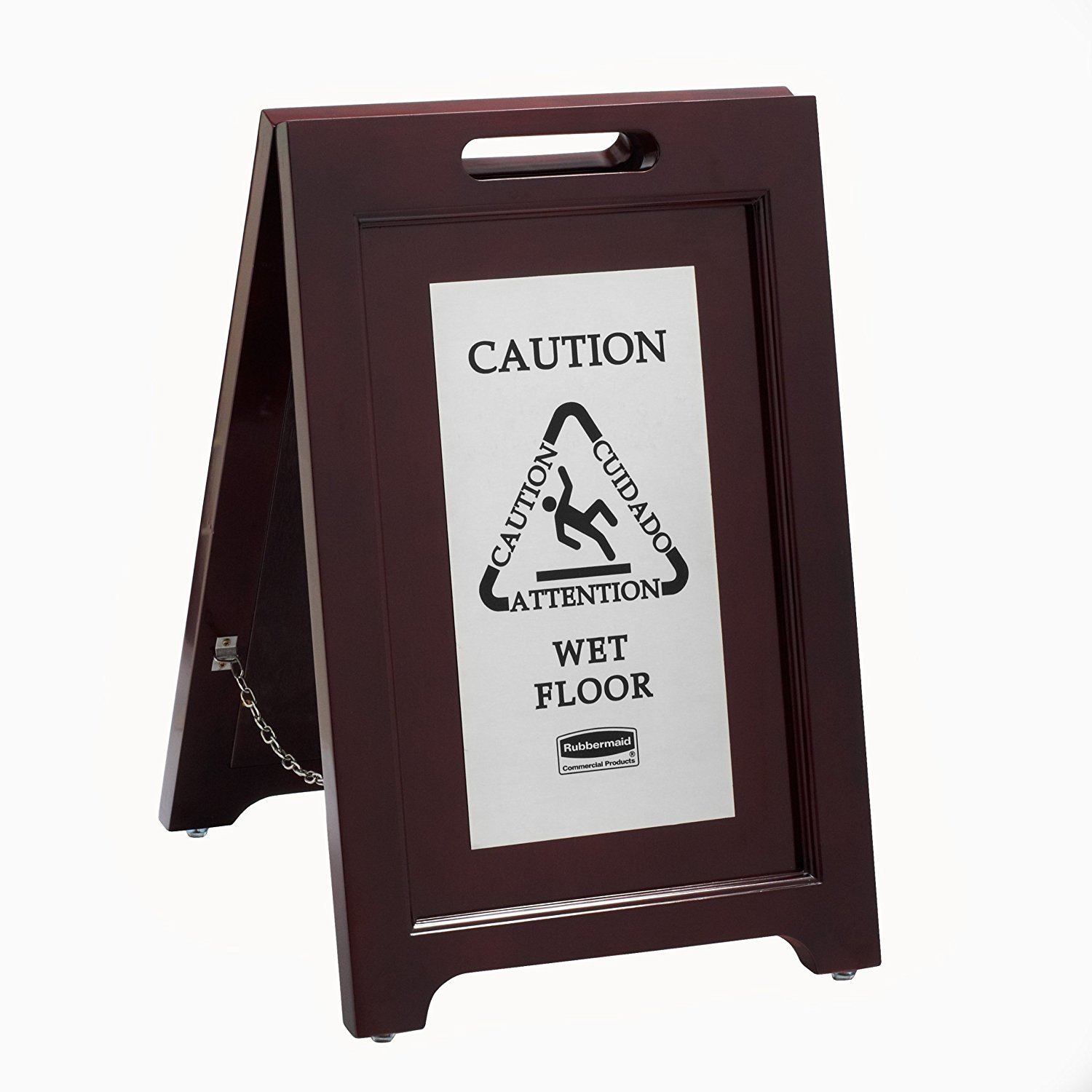 S/o Executive Wood/SS;Multi-Ling. Caution Sign