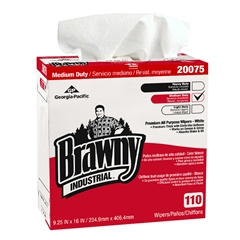 10/110 Brawny Professional Disposable Cleaning All Purpose Towel, Tall Box, White