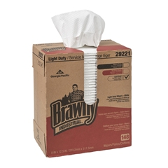GP Brawny Industrial® White Light Duty 2-Ply Paper Wipers, 20/148