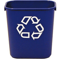 s/o 13qt Blue Recycle;Wastebasket