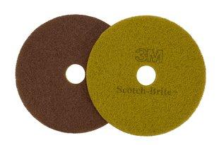 Scotch-Brite™ Sienna Diamond Floor Pad Plus, 17 in, 5/case