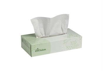 GP Envision® White Facial Tissue, Flat Box, 30/100