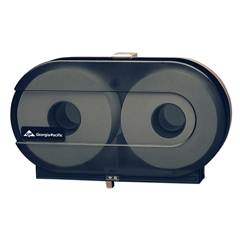 "GP Jr Jrt Bath 2 x 9"" Roll Wall-mounted, Universal, Translucent Smoke Tissue Dispenser"