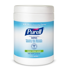 PURELL® Hand Sanitizing Wipes, 6/270 Count