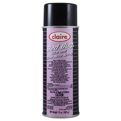 Claire[R] Bed Bug, Lice Dust Mite Killer - 13 oz Net Wt.. 12/cs