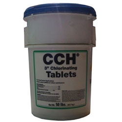 """CCH[R] 3"""" Calcium Hypo-Chlorite Tabs - 50 lb.. ea"""