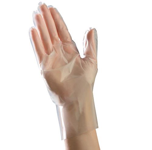 10/100 Med Wht PF Glove;EconoFit Polyethylene