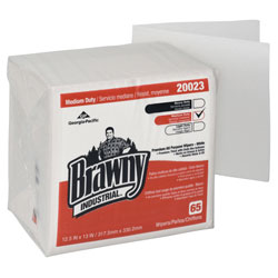 GP Brawny Industrial[TM] 1/4 Fold DRC Wiper - White. 18/65/cs
