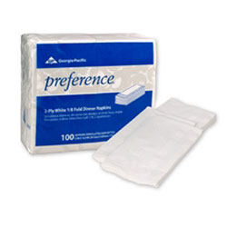 Georgia-Pacific Preference[R] 1/8 Fold Dinner Napkin. 30/100/cs