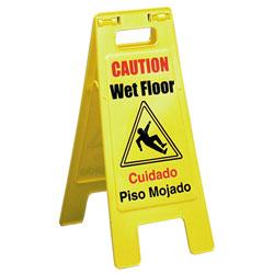 "Impact[R] Bilingual ""Wet Floor"" Sign. 6/cs"