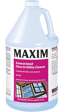 Maxim[R] Ammoniated Glass & Utility Cleaner - Gal.. 4/cs