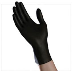 10/100 Med Blk PF;Nitrile Exam Glove